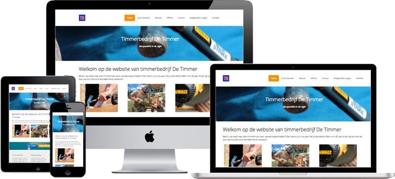 website voorbeeld vakmanwebsite